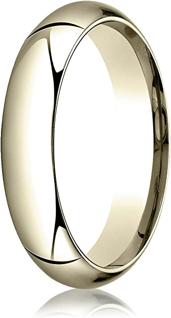 Benchmark 14K Yellow Gold 3mm Low Dome Light Wedding Band Ring Sizes 4-15