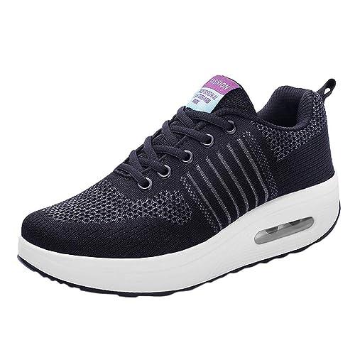 Zapatillas Deportivas con Cordones De Malla para Mujer Al Aire Libre Zapatillas con Fondo Suave Y Transpirable Zapatillas De Deporte: Amazon.es: Zapatos y ...