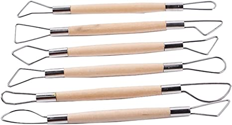 6pcs Wax Clay Soap Carvers Modelling Carving Sculpting Pottery Craft Tools Set