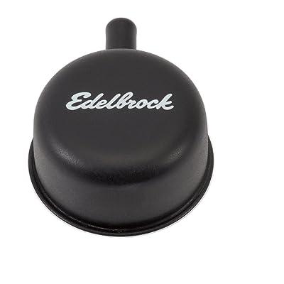 Edelbrock 4413 Valve Cover Breather Round 2.25 in. Tall w/90 deg. PVC Port: Automotive