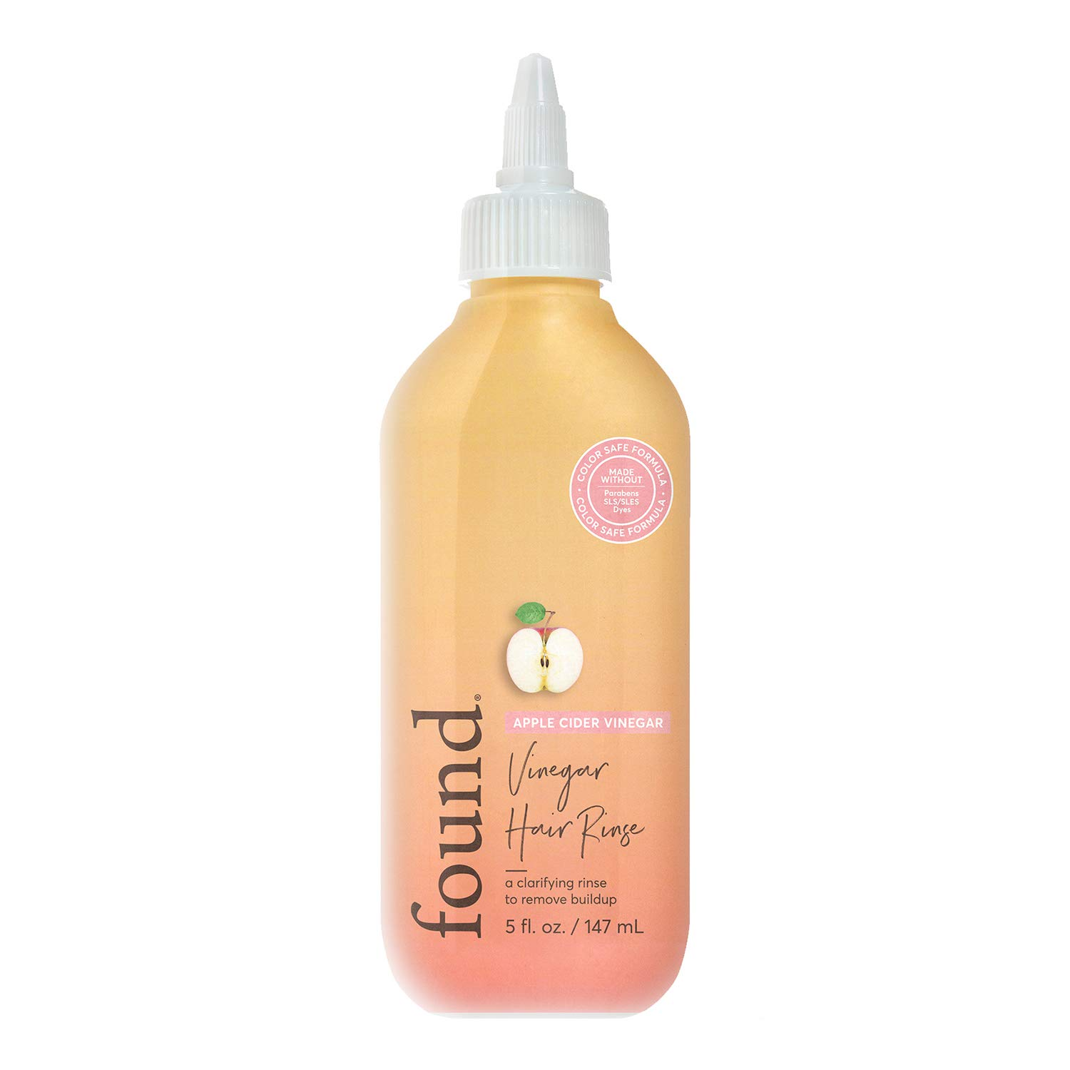 FOUND Haircare Apple Cider Vinegar Hair Rinse, 5 oz.| Removes Buildup & Promotes Shine