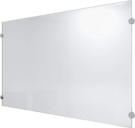 Küchenrückwand ESG Spritzschutz Herdspritzschutz 6mm Milchglas Glas Hochpoliert