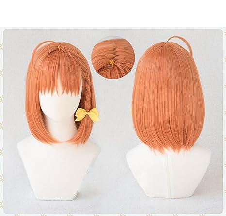 耐熱コスプレウィッグ 髪飾り付 ラブライブ!サンシャイン!! 高海 千歌 コスチュム cos wig