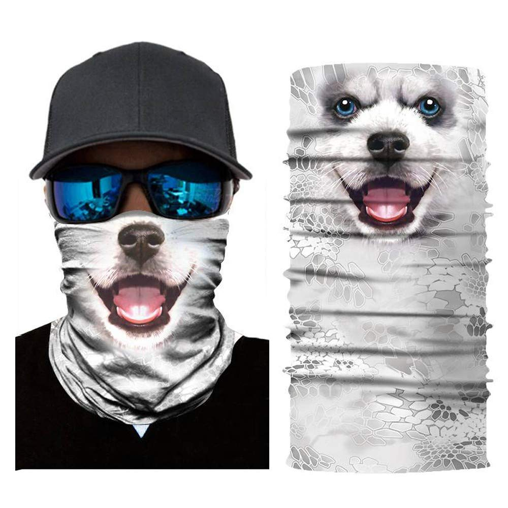 QHLJX Face Shields,3D Animal Ski Radfahren Snowboard Schal Halswärmer Gesichtsmaske Balaclava Bandana Nationalflagge Multifunktionale Stirnbänder mit UV Beständigkeit,Unisex,zum Laufen,Fahrrad Fahren