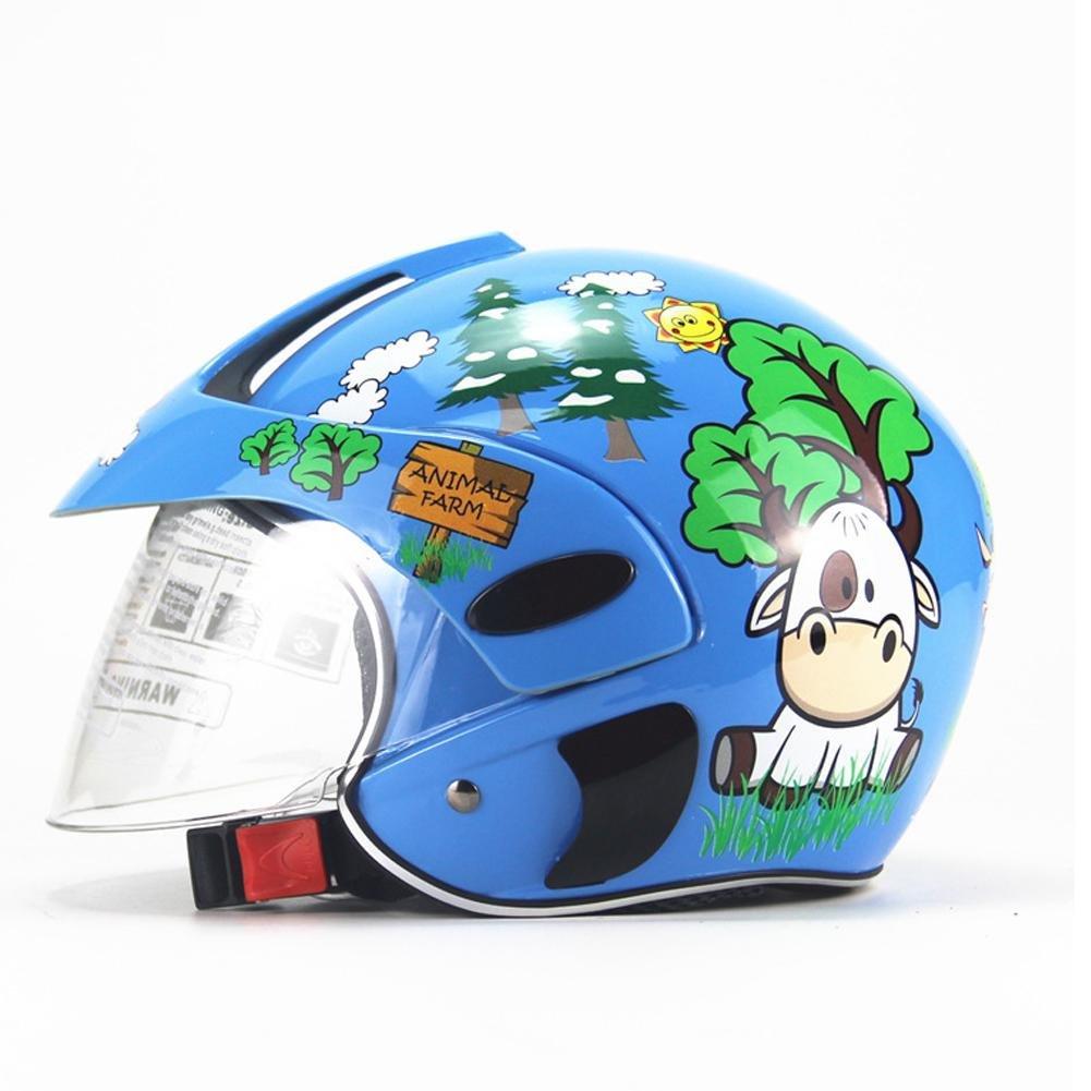 juman634 Casco para ni/ños Motocicleta Cuatro Estaciones Personalidad Bater/ía Coche Hombres y Mujeres Beb/é Casco de Seguridad Infantil Oto/ño e Invierno