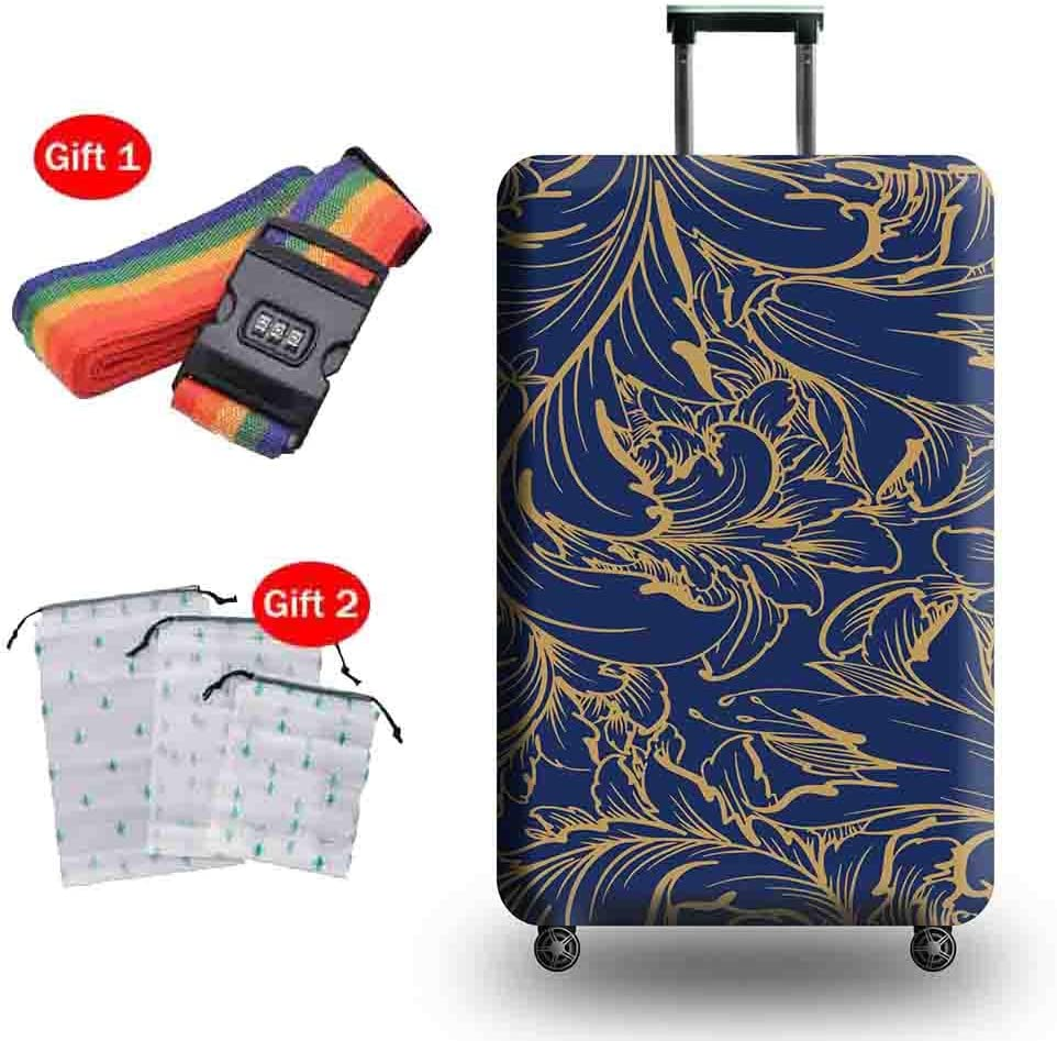 Suitcase Cover Travel Thick Wear-Resistant Luggage Protection Cover Shockproof Anti-Theft Breathable Trolley Case Protective Cover