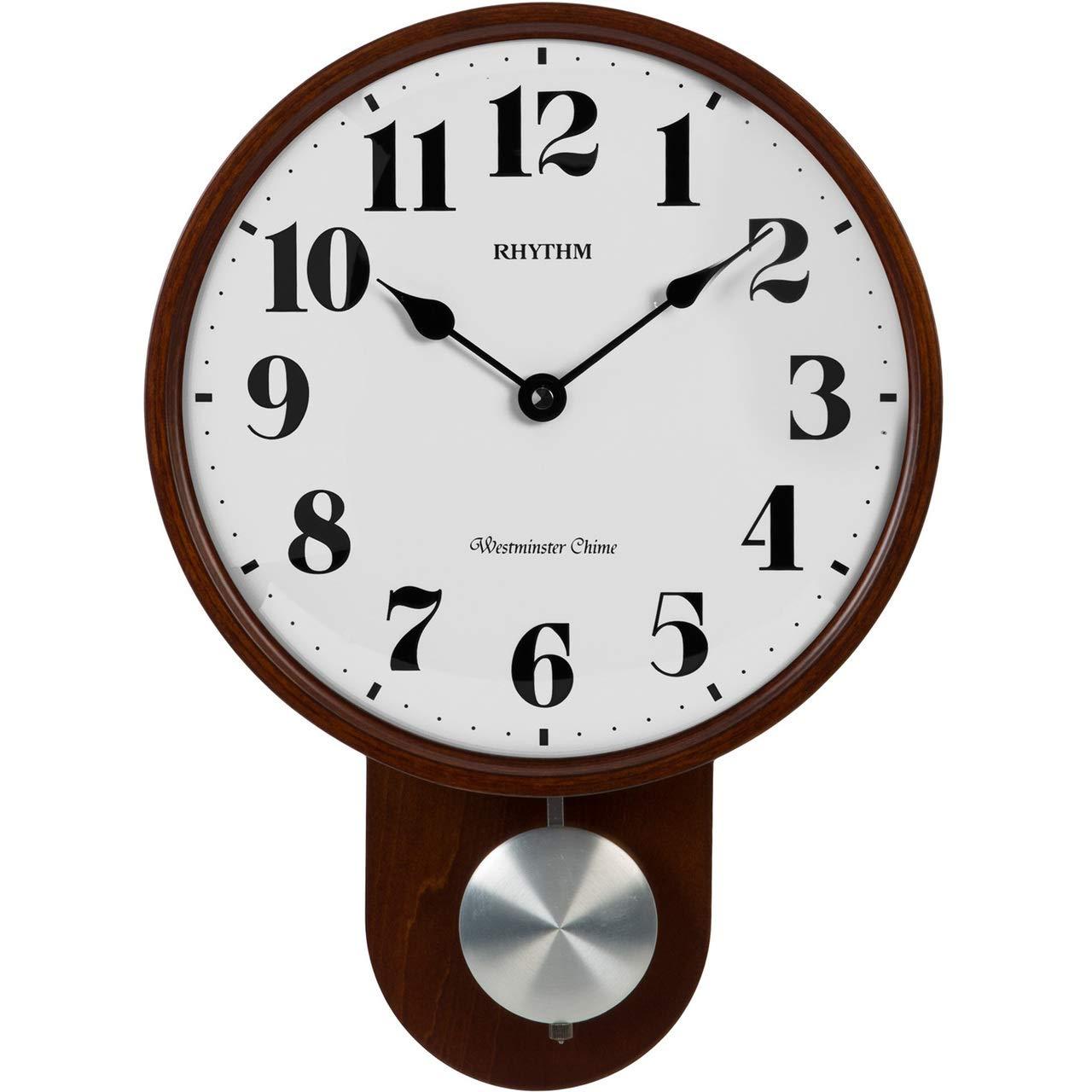 Buy Rhythm (Japan) Brown Wood Round Swinging Pendulum