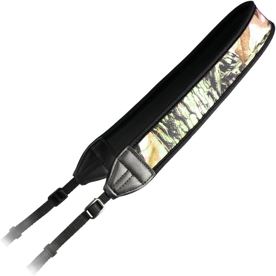 Foto&Tech Camouflage High Elastic Decompression Anti-Slip Neoprene/Silicone Camera/Shoulder/Grip Neck Strap Belt Compatible with Canon Nikon Sony Panasonic Fujifilm Olympus Pentax Sigma DSLR/SLR/Evil