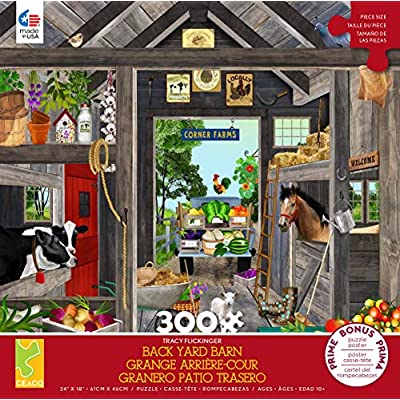 Ceaco Tracy Flickinger The Barn Jigsaw Puzzle, 300 Pieces: Toys & Games