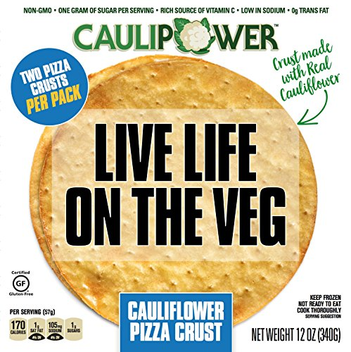 CAULIPOWER Plain Cauliflower Pizza Crusts by, Gluten Free, Non-GMO, Lower Carb (8 (Low Fat Pizza)
