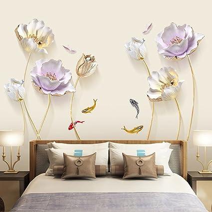 CJH Adesivi per tulipani Decorazioni per camere Adesivi da parete ...