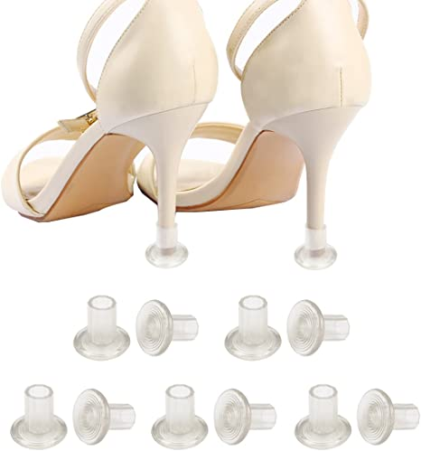 10 Pairs Wedding Mates High Heel Stoppers Protectors Non-slip Cover PVC Clear