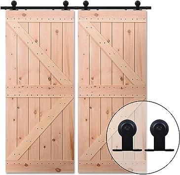 121CM/4FT Puerta de granero corredera estilo rústico puerta de ...