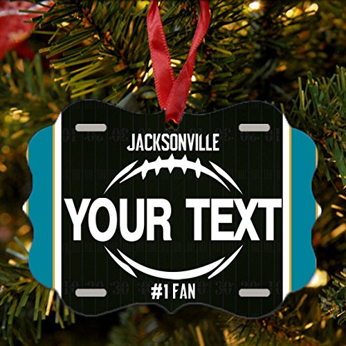 BRGiftShop Personalize Your Own Football Team Jacksonville Christmas Tree Ornament