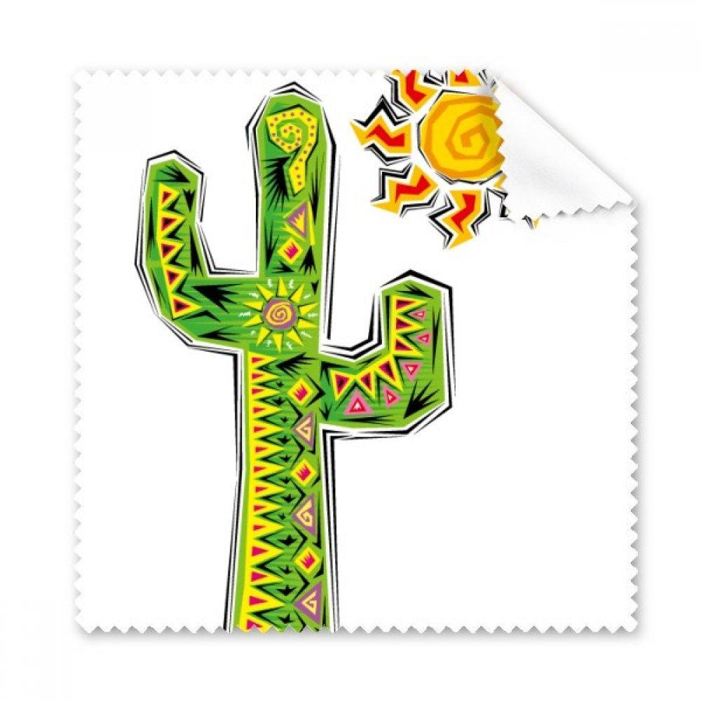 グリーン手描きCactusメキシコ文化要素Glasses布クリーニングクロスギフト電話画面クリーナー5点   B0716C9MNW