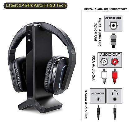 Amazoncom Wireless Stereo Tv Headphones Artiste D1 24ghz Optical