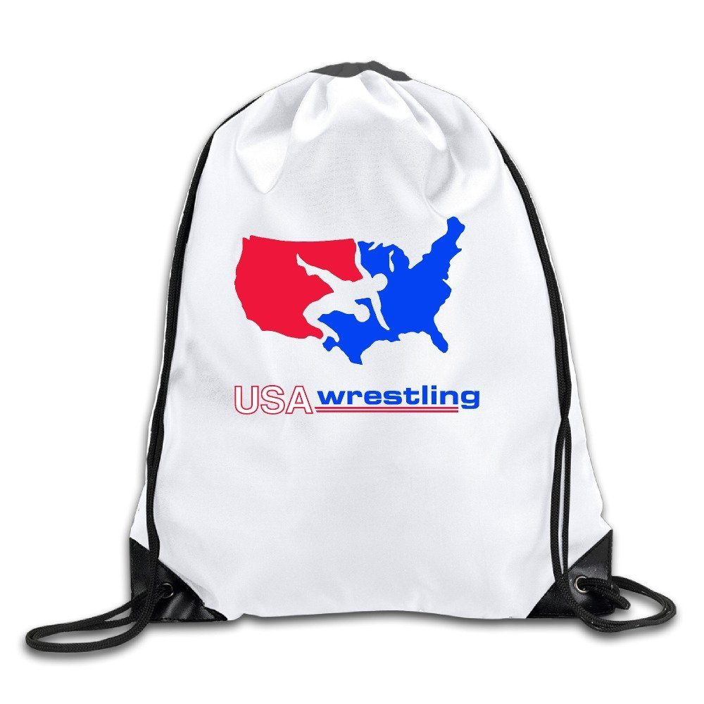 Home&apron US Wrestling Logo CoolDrawstring Bags One Size