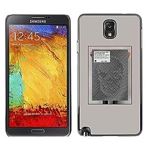 TopCaseStore / la caja del caucho duro de la cubierta de protección de la piel - Illusion Poster Art Abstract Scull - Samsung Galaxy Note 3 N9000 N9002 N9005