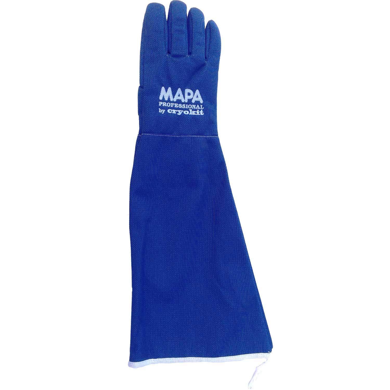 MAPA Professional CRYPLS215510 CRYOPLUS-2.1 55 Cryogenic Glove, Cryoplus 2.1 55 (22''-EB), Size 10, PR 1, Blue