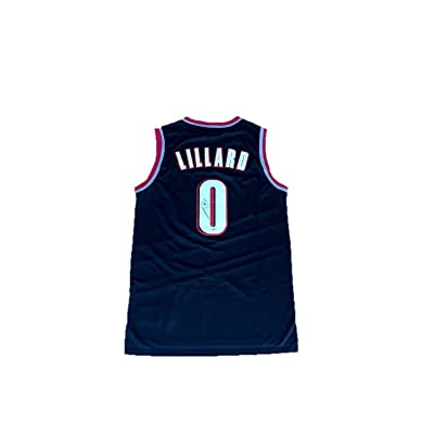 new style c30f2 96c64 Damian Lillard Autographed Jersey - Away Black - PSA/DNA ...
