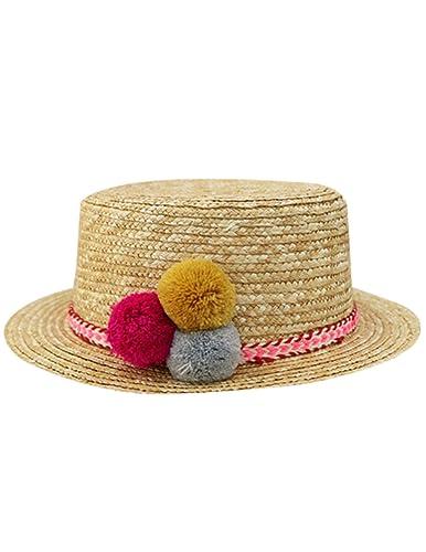Menschwear mujer Hats Summer Beach Hats Wide Brim Paper Caps Creme