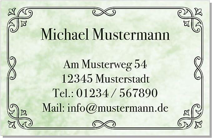 Design Marmor Hellblau Kartenspender 85 x 55 mm inkl 100 Visitenkarten