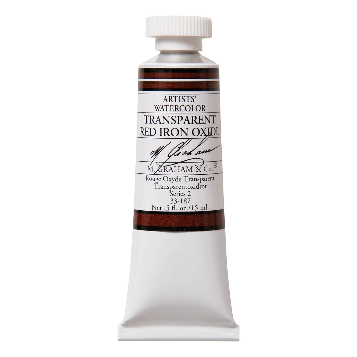 M. Graham 1/2-Ounce Tube Watercolor Paint, Transparent Red Iron Oxide