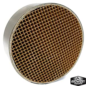 "Midwest Hearth Wood Stove Catalytic Combustor Replacement Catalyst Dutchwest Englander (6"" x 2"" Round Ceramic)"