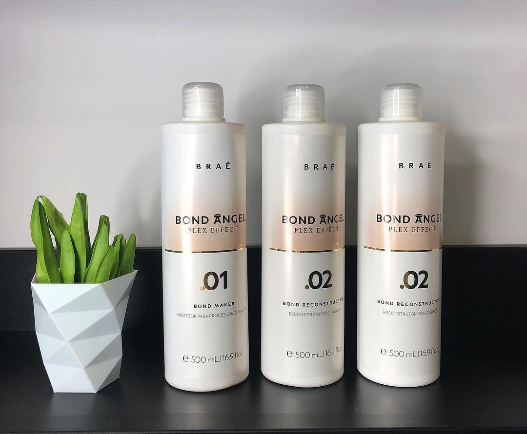 Bond Angel Plex Effect, Bond Multiplier Treatment Professional Kit for Bleaching and Coloring protection for All Hair Types -500ml Step1,2,2