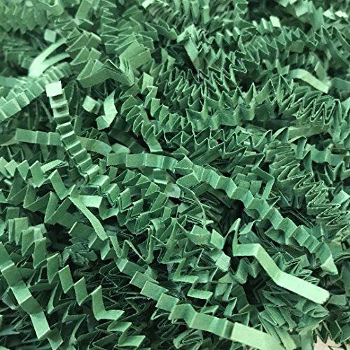 Black Cat Avenue 1 LB Green Crinkle Cut Paper Shred Filler For Gift Wrap and Basket Filler by Black Cat Avenue