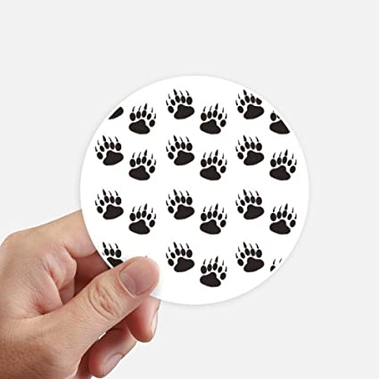 Paw print claw silhouette protect animal round stickers 10cm wall suitcase laptop motobike decal 8pcs