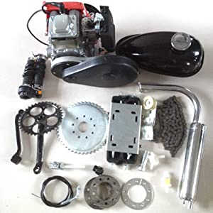 KABOCHO 4-Stroke 49cc Petrol Gas Motor Bicycle Engine Complete Kit Motorized Bike