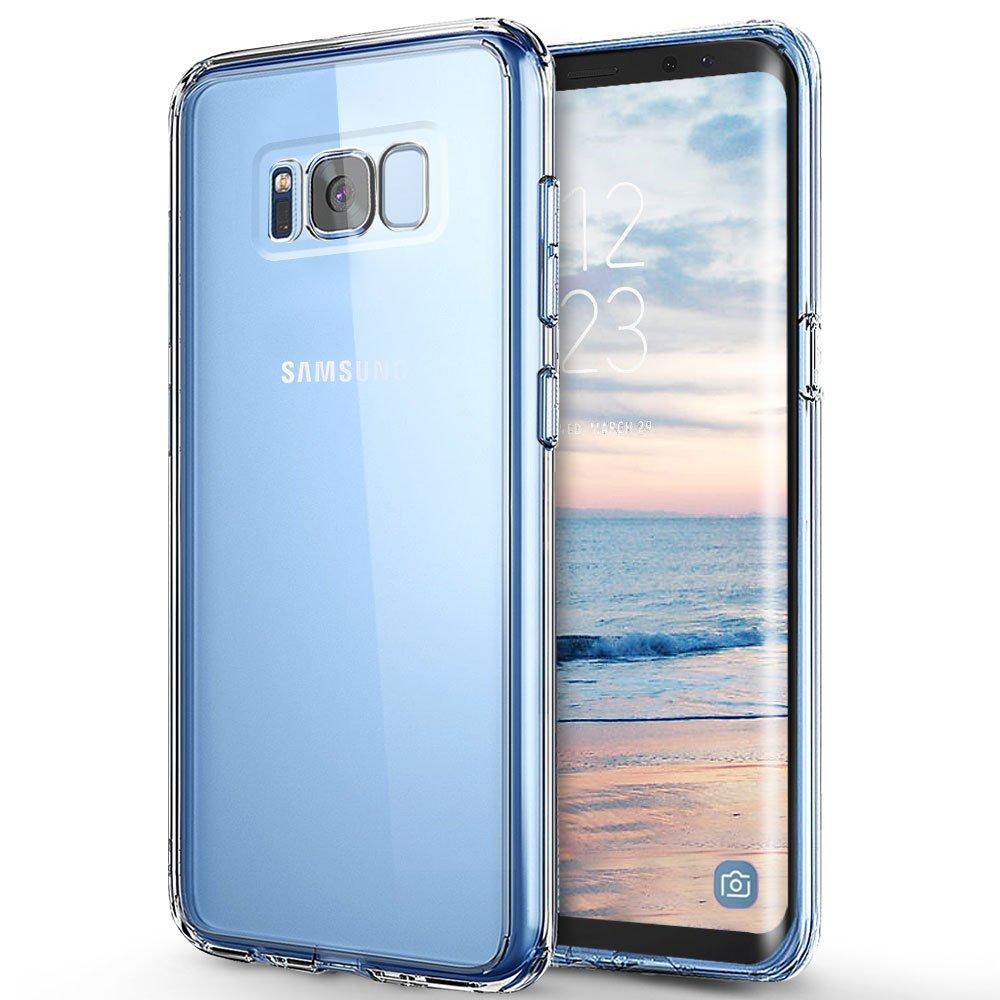 Funda Samsung Galaxy S8, ikalula Cristal Carcasa Galaxy S8 Ultra Delgado Anti-rasguñ os Silicona Protectora de TPU Case Cover para Samsung Galaxy S8 Protectora Caso - Transparente, 1 Pack VanS8tou-FBA