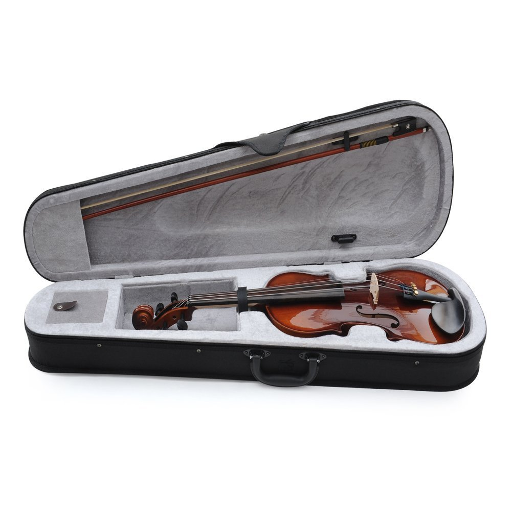 ADM Acoustic Violin 1/2 Size with Hard Case, Beginner Pack for Student, Red Brown by ADM (Image #8)