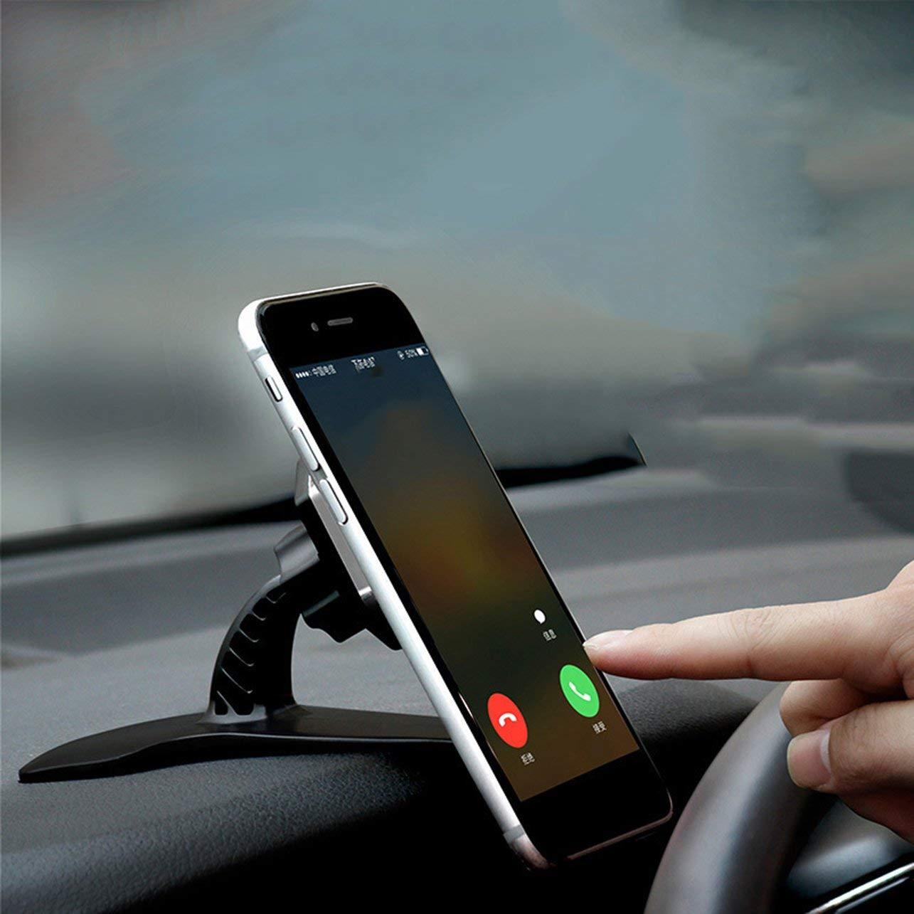 Heaviesk Support de t/él/éphone Portable pour Tableau de Bord de Voiture Hud Vue directe Cadre de Navigation de Voiture Support de Voiture avec Rotation /à 360 degr/és