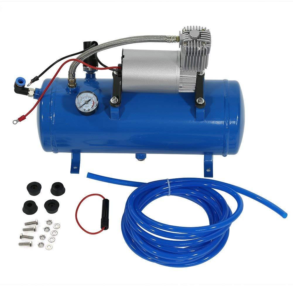 150PSI 12 V Compresor de aire Neumáticos inflador bomba con tanque de 6 L para Air Horn Tren Camiones RV Neumáticos: Amazon.es: Bricolaje y herramientas