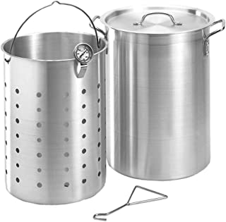 product image for Fire Magic 26 Quart Aluminum Turkey Fryer Pot With Basket And Thermometer - 3570