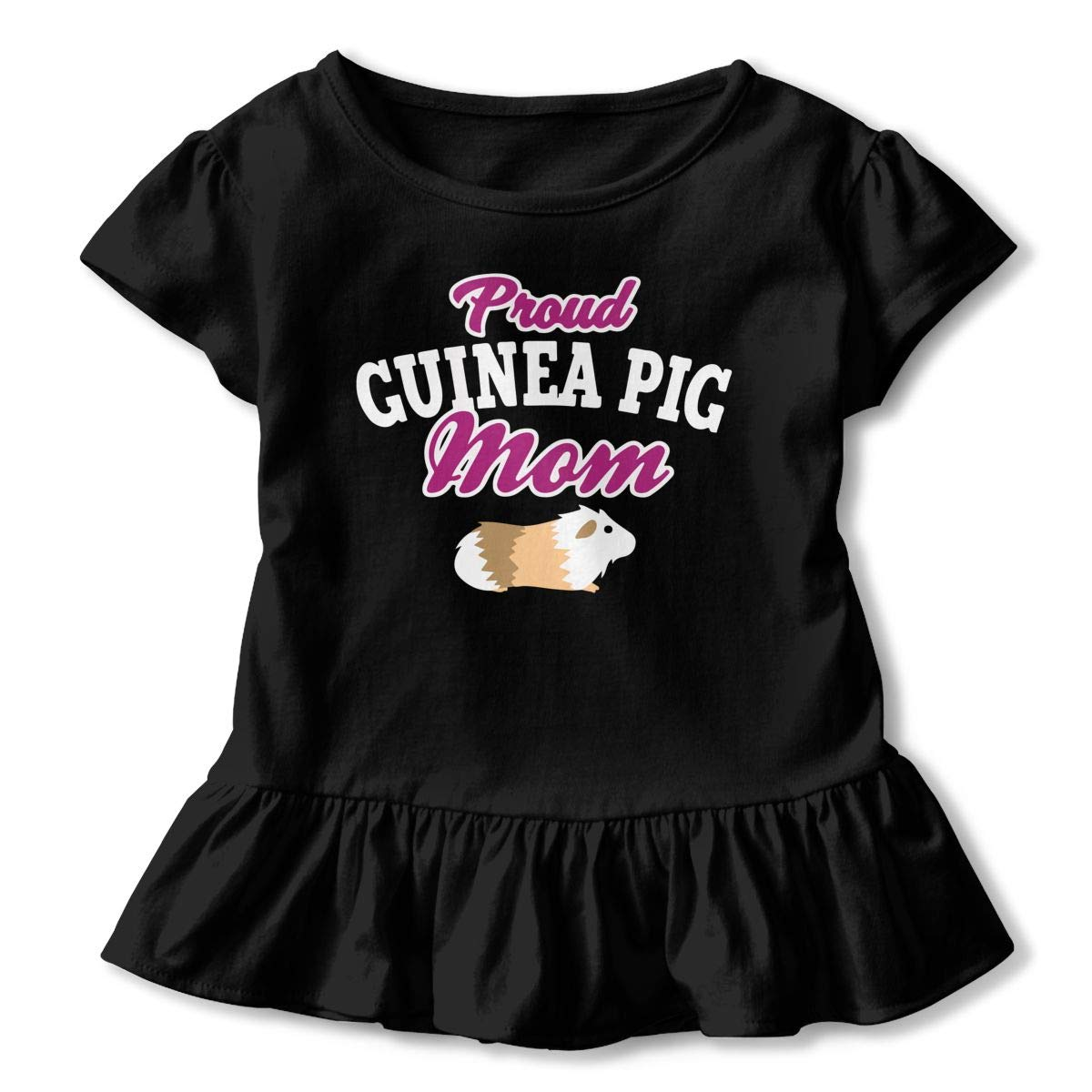 Little Girls Proud Guinea Pig Mom Funny Short Sleeve Cotton T Shirts Basic Tops Tee Clothes