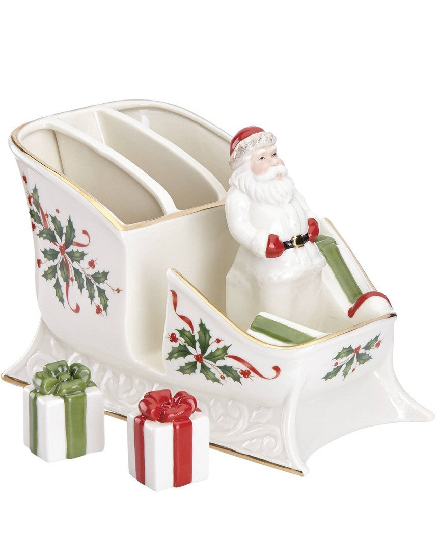 Lenox Holiday Santa Sleigh Caddy by Lenox
