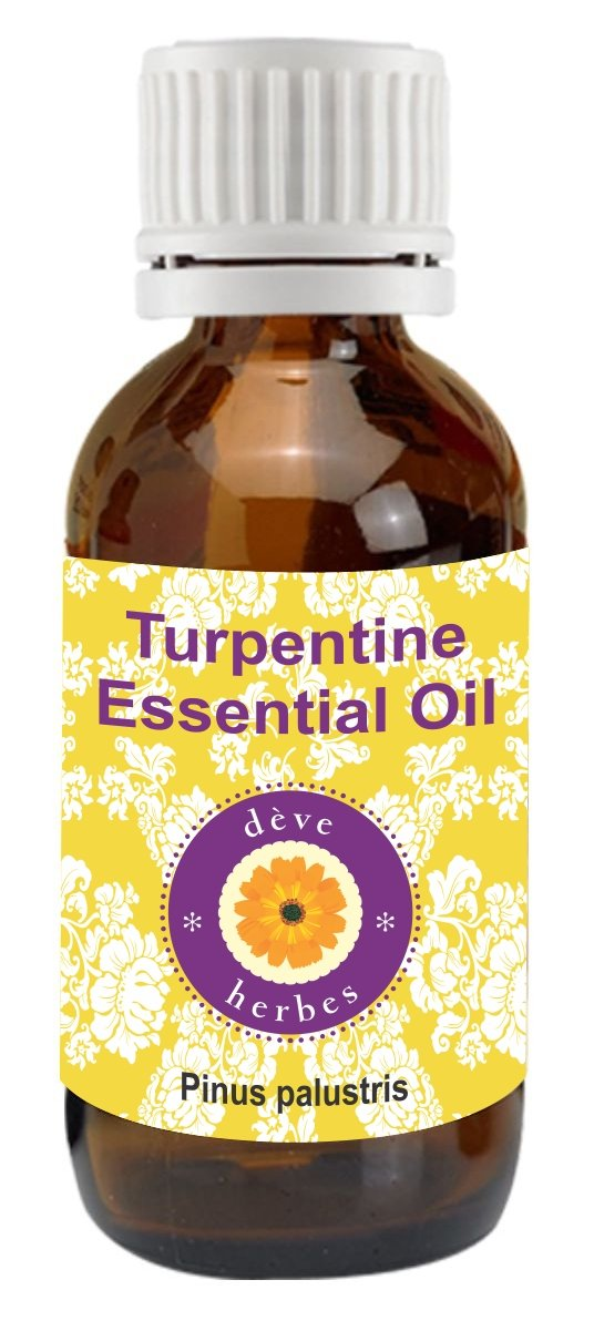 Pure Turpentine Essential Oil 100ml (Pinus palustris) Deve Herbes