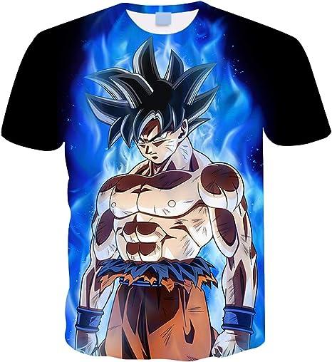 Camiseta Dragon Ball Niño Unisex 3D Impresión Hombres Mujer Camisetas y Camisas Deportivas Camisetas de Manga Corta Dibujos Animados de Fans Streetwear T Shirt Camisetas de Verano: Amazon.es: Ropa y accesorios