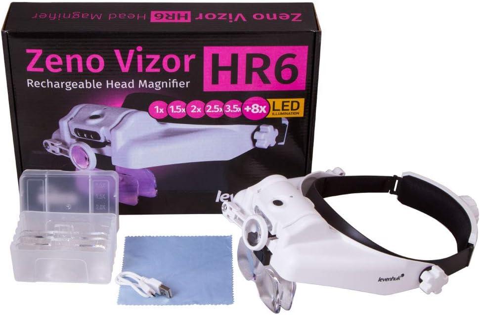 wiederaufladbar Levenhuk-Kopflupe Zeno Vizor HR6