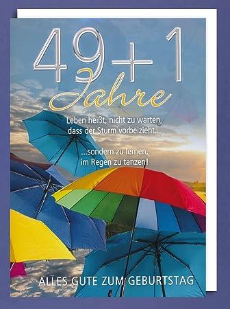 50 geburtstag karte Riesen Grußkarte 50 Geburtstag Karte Regenschirm Glückwunsch A4