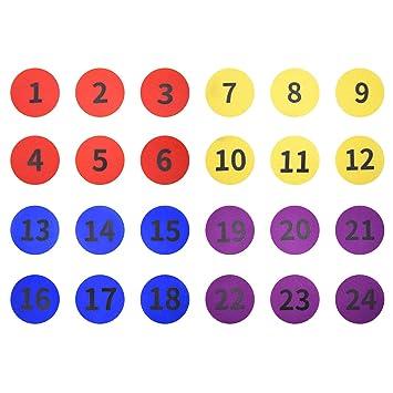 Winthai 24PCS Surtido Colores Numerados Piso Alfombra ...