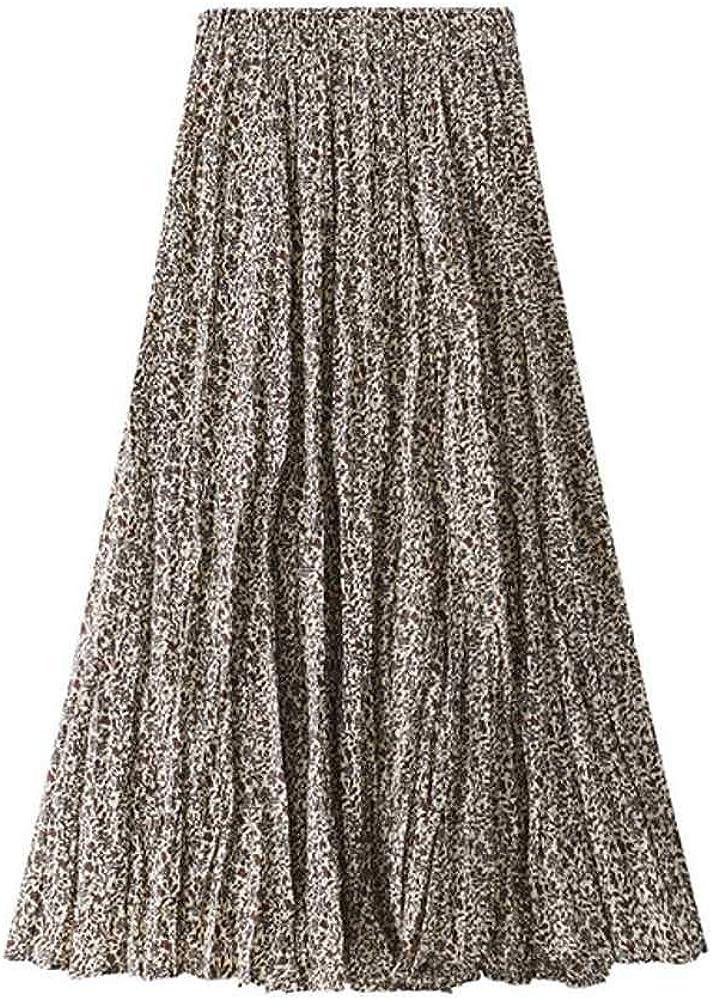 NOBRAND Faldas femeninas de cintura ajustable en la mitad de la pantorrilla