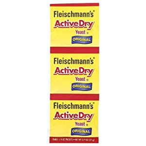 Fleischmann's Active Dry Yeast, The original active dry yeast, 0.75 oz (Pack of 4)
