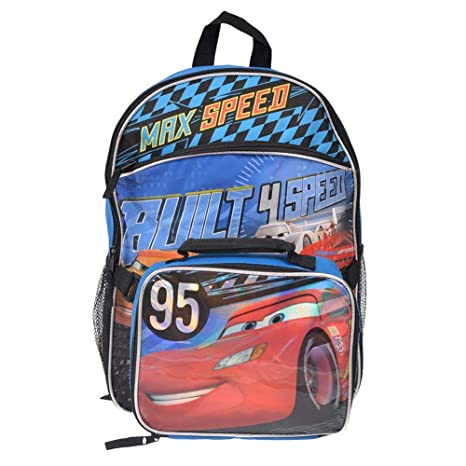 e19db8808ed5 Disney Cars Backpack With Lunch Bag for Kids 16 Inch  Amazon.ca  Luggage    Bags