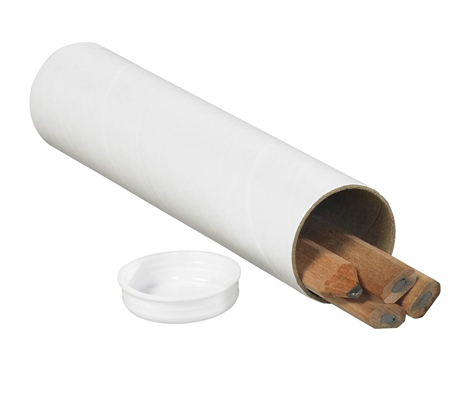 Pack of 50 1-1//2 x 15 Aviditi P1515W Mailing Tubes with Caps White