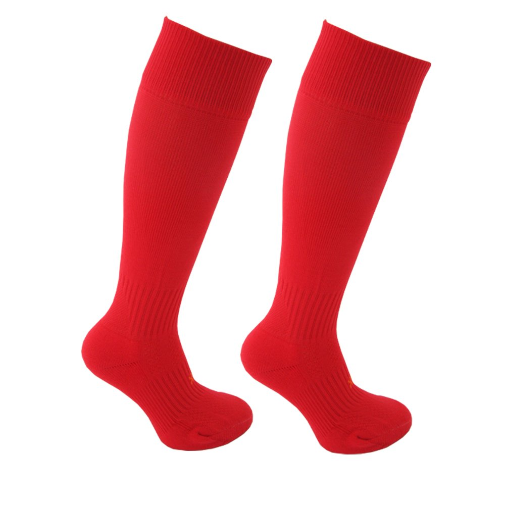 STAY UP Kid's Sports Socks 2 Pairs with Stay On Technology – Twin Pack - Red LG008-Red-Twin-Pack