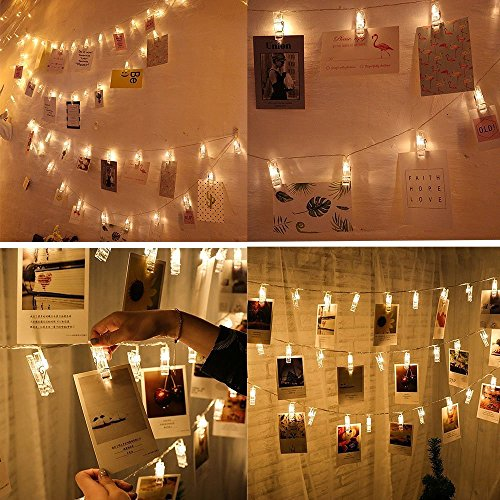 yeeteching 20 ft usb powered led photo clip string lights